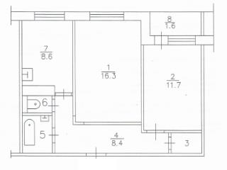 Продажа квартир: 2-комнатная квартира, Красноярский край, Сосновоборск, Солнечная ул., 11, фото 1