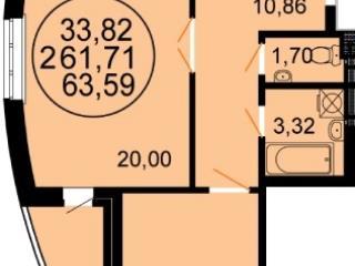 Продажа квартир: 2-комнатная квартира, Краснодар, Симферопольская ул., 116, фото 1