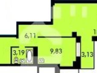 Продажа квартир: 1-комнатная квартира в новостройке, Красноярск, ул. Калинина, 175, фото 1