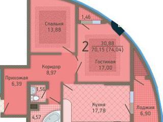 Продажа квартир: 2-комнатная квартира, Краснодар, Кубанская ул., 37, фото 1