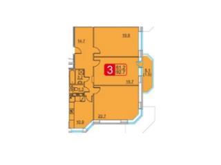 Продажа квартир: 3-комнатная квартира, Московская область, Дзержинский, ул. Бондарева, 3, фото 1
