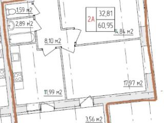 Продажа квартир: 2-комнатная квартира в новостройке, Владимир, ул. Нижняя Дуброва, 21Д, фото 1