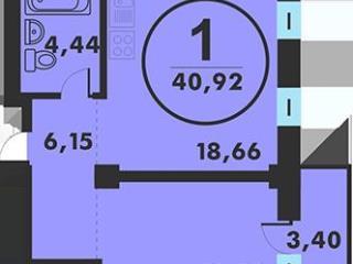 Продажа квартир: 1-комнатная квартира, Тюменская область, Тюмень, Кремлевская ул., 142, фото 1