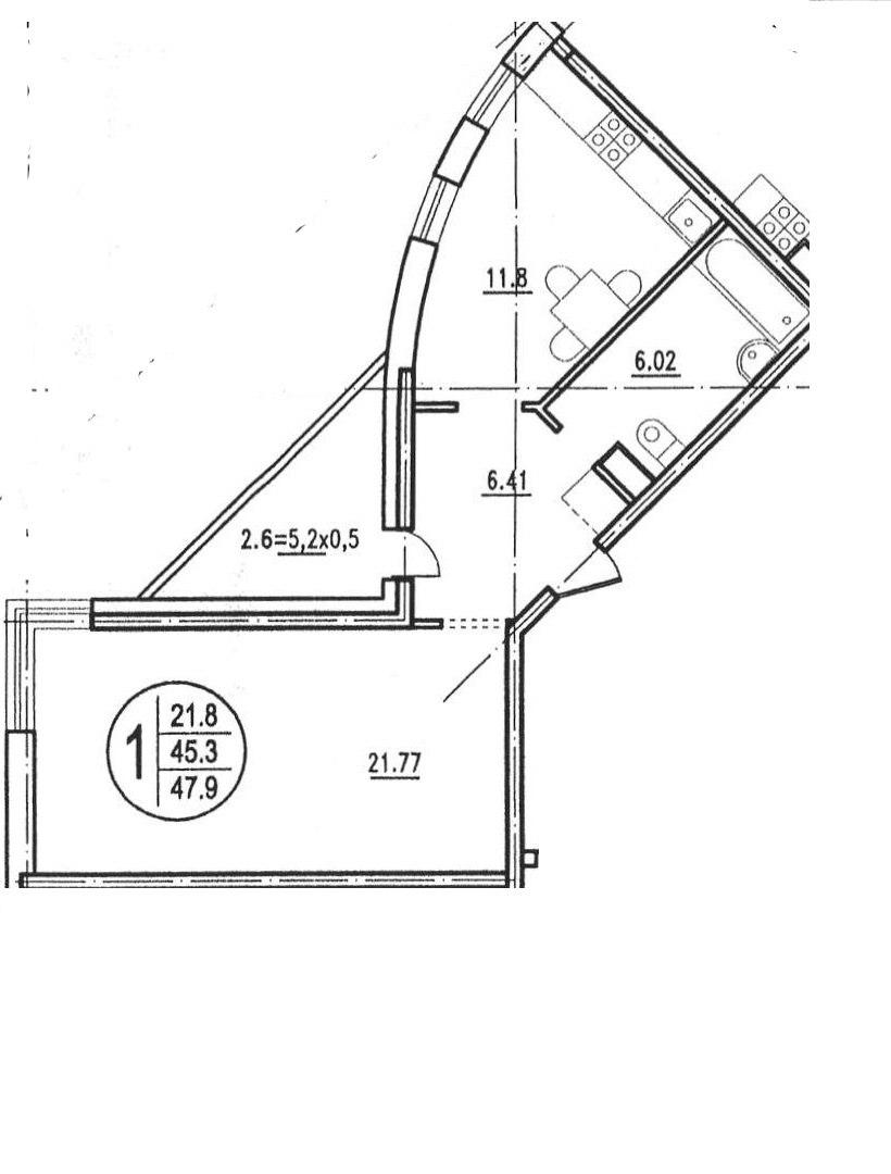 Продажа квартир: 2-комнатная квартира, Краснодар, ул. им Чехова, 6, фото 1