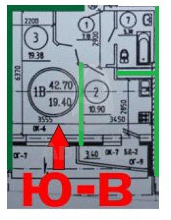 Продажа квартир: 2-комнатная квартира в новостройке, Тюмень, ул. Болотникова, 6, фото 1