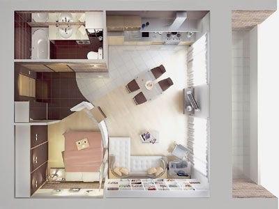 Фото дизайна квартир 38 кв.м